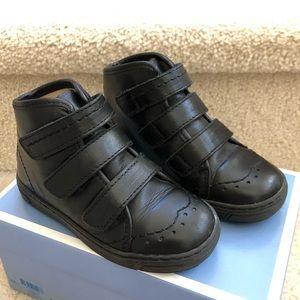Jacadi EU Sz 25 (US9) high top dress shoes black